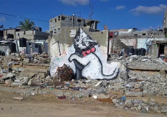 Banksy Gaza kitten